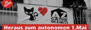 Autonome 1. Mai Demo in Wuppertal