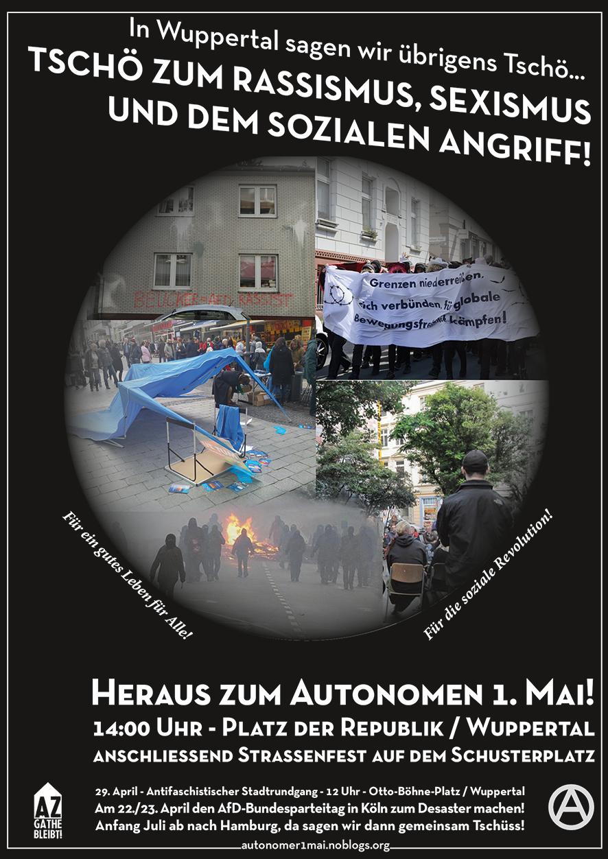 Heraus zum Autonomen 1.Mai 2017 in Wuppertal!