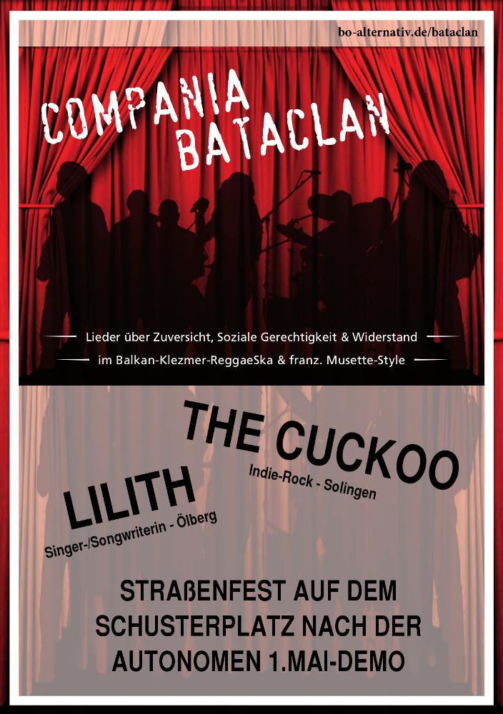 Autonomer 1. Mai 2017 in Wuppertal - Straßenfest auf dem Schusterplatz